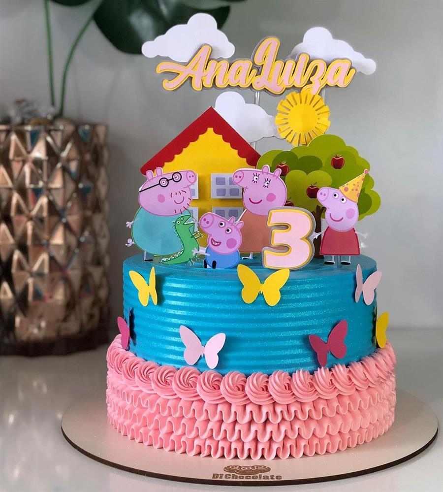 bolo decorado feminino peppa pig