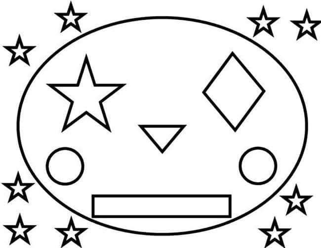 Desenhos de formas geométricas para pintar