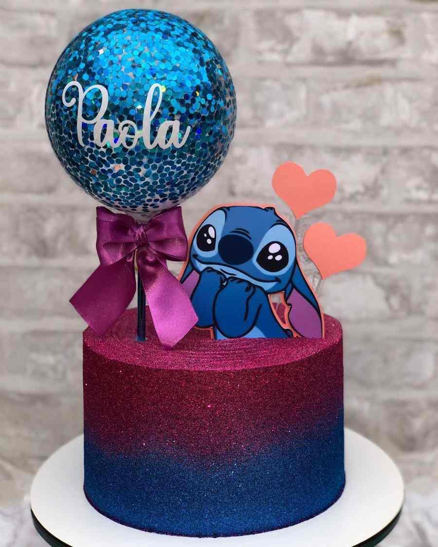 stitch azul e rosa