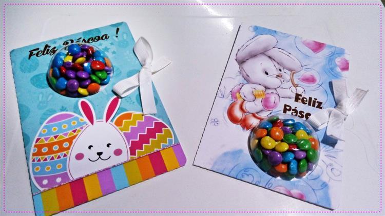 Cartão de Páscoa para alunos