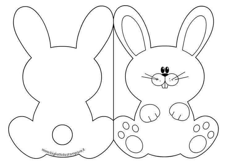 Cartão de coelhinho da Páscoa para colorir