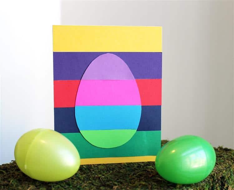 cartão de páscoa colorido