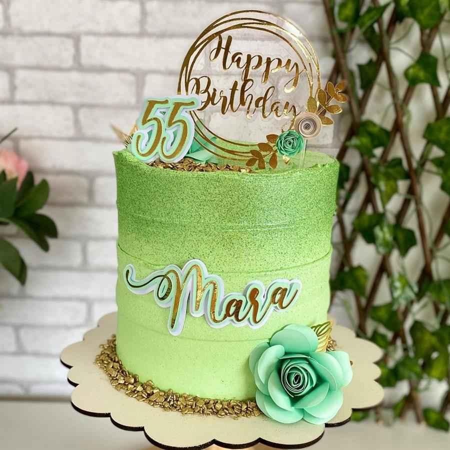 bolo decorado feminino verde