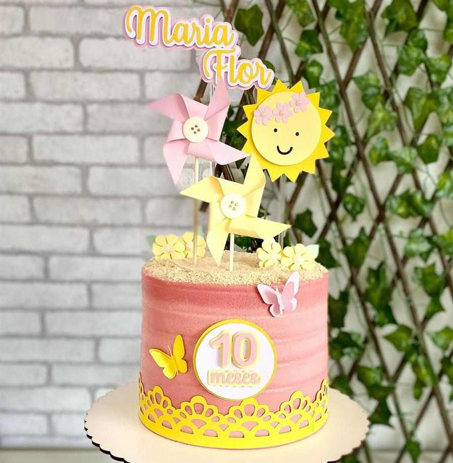 bolo decorado feminino sol