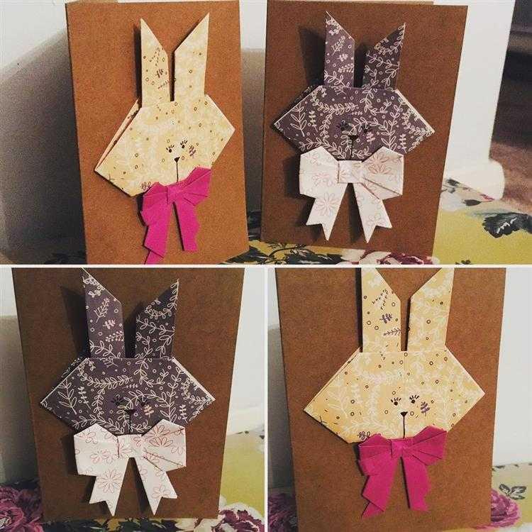 3D com coelho de origami