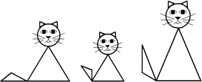 Desenho de gatinhos para colorir