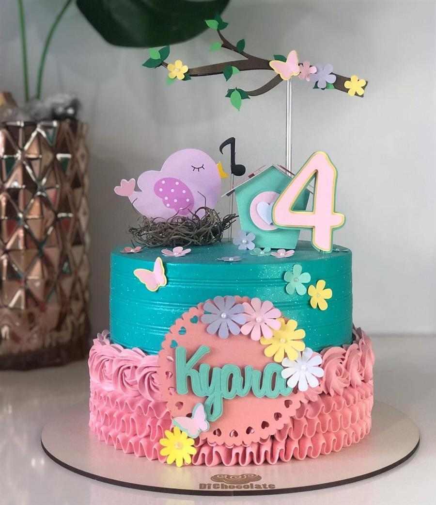 bolo decorado feminino jardim encantado