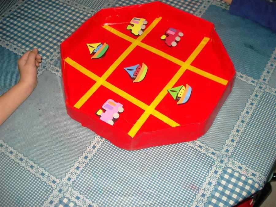 jogo da velha de caixa de pizza