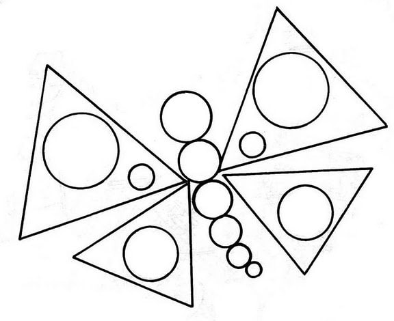 Borboleta feita de formas geométricas