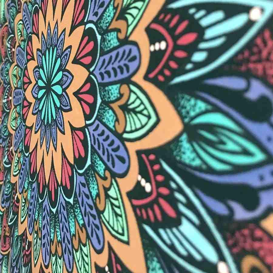 mandala colorida simples