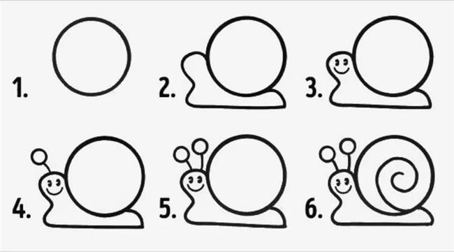 Desenho de caracol para colorir