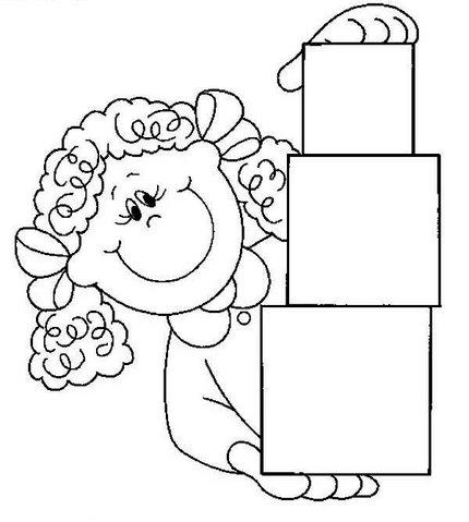Boneca com quadrados