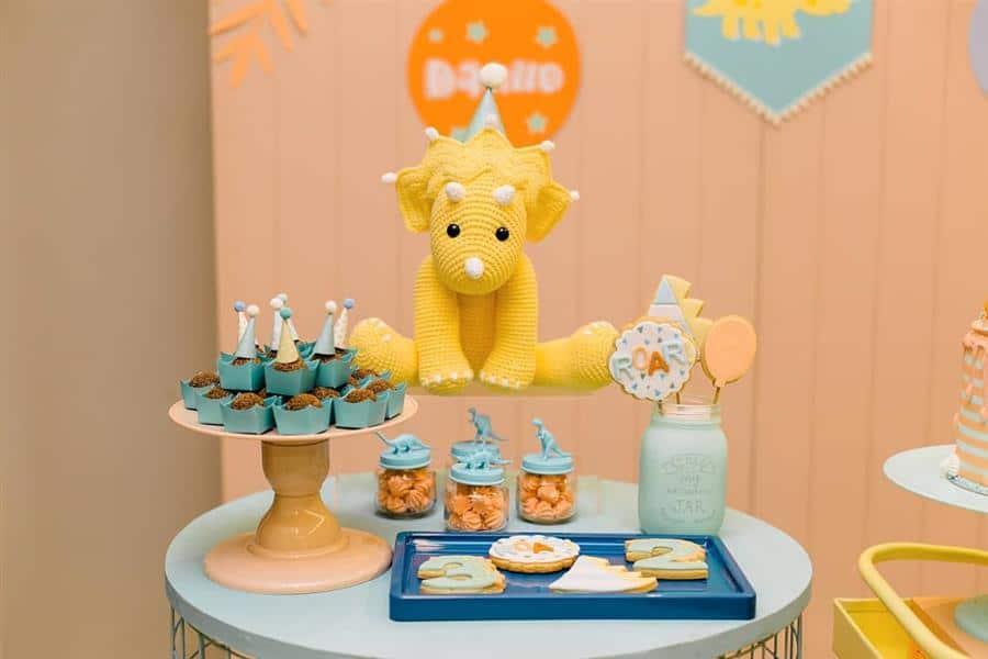 Decoração de festa infantil com amigurumi