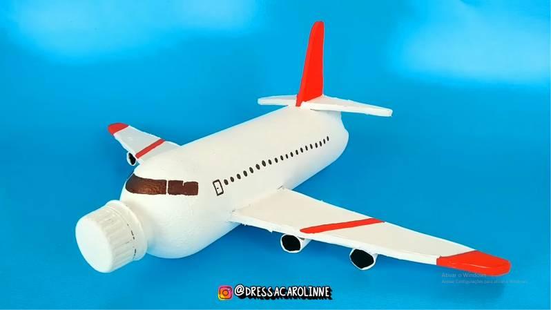 avião garrafa pet