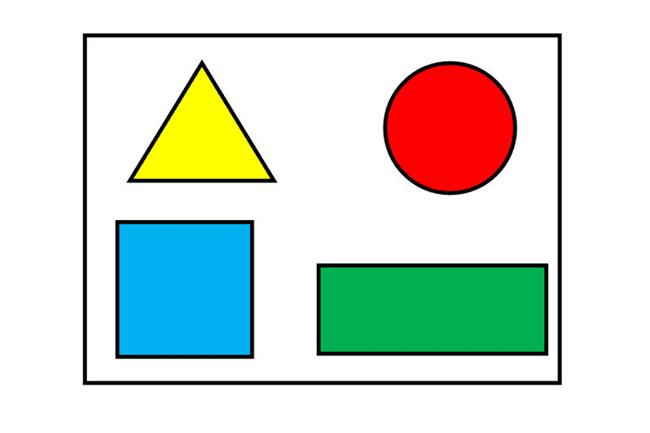 desenhos de formas geométricas coloridas