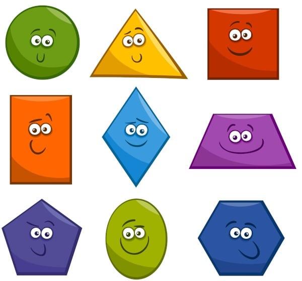 desenhos com as formas geometricas