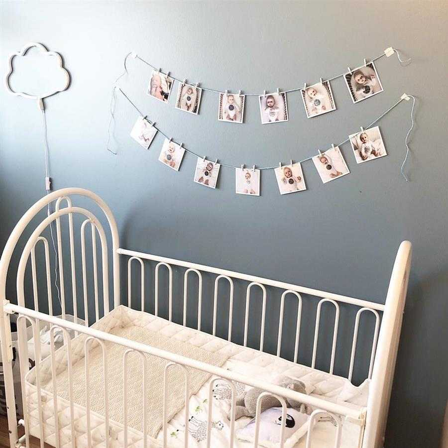 Varal de fotos na parede