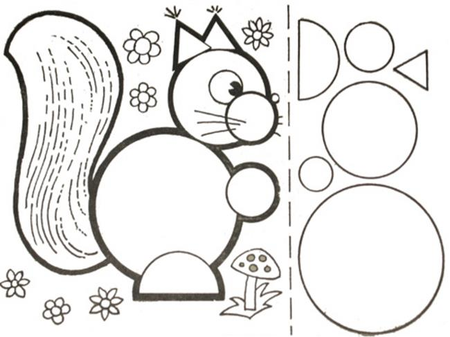 Desenho de animais usando formas geométricas