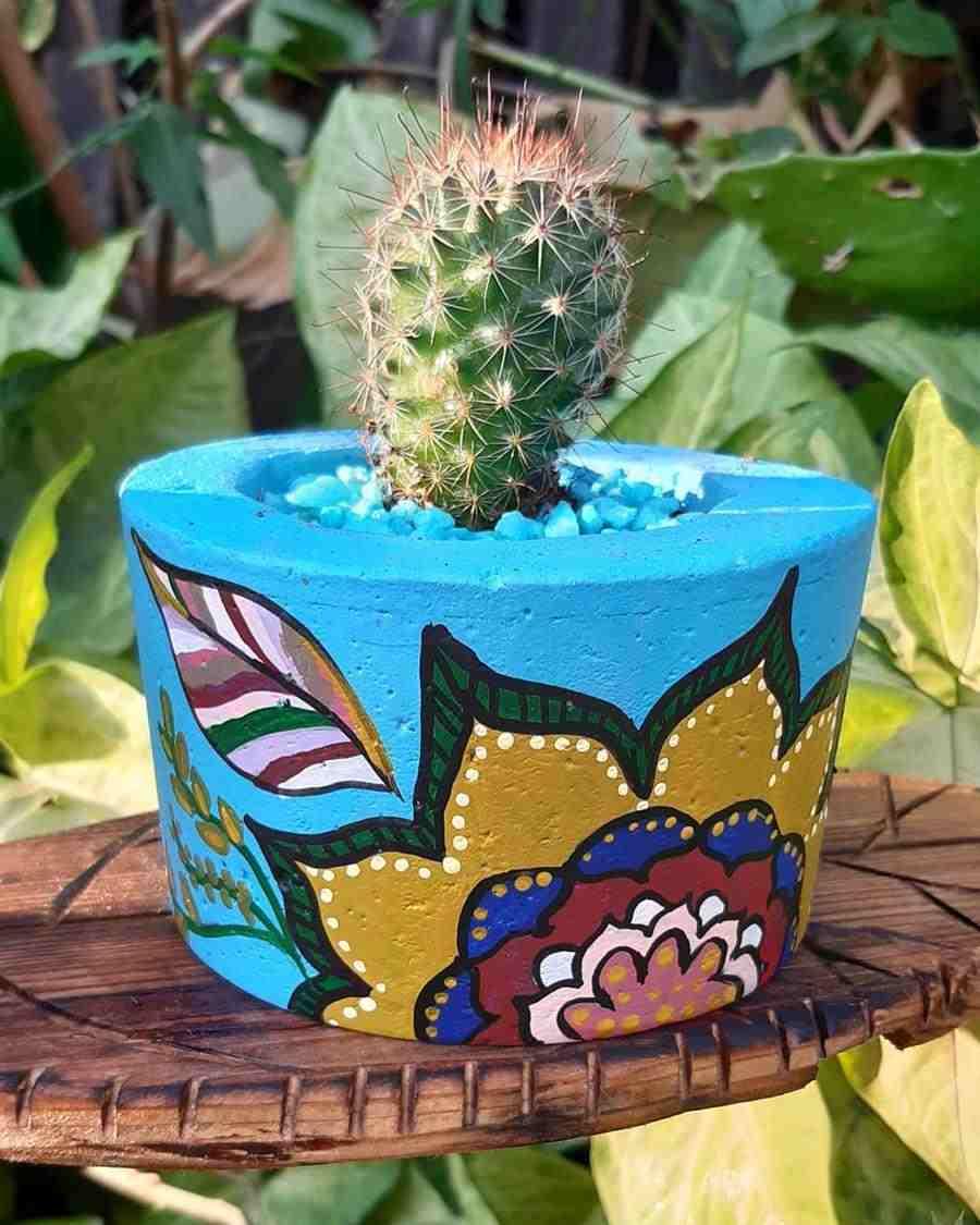Vasinho de plantas decorado