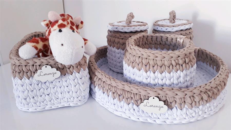 Kit higiene para quarto de bebê