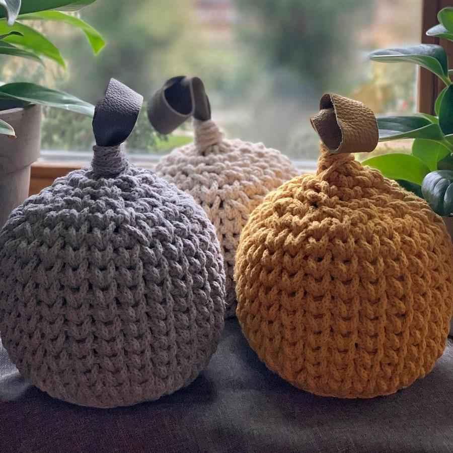 Enfeites para sala feitos com crochê