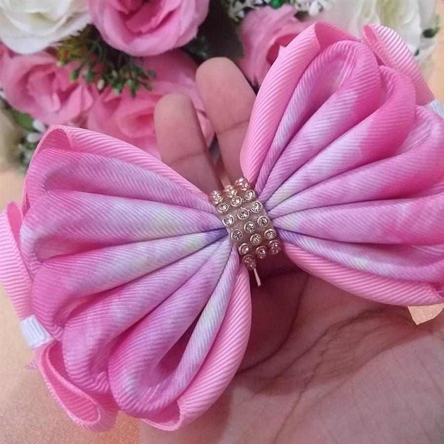 Laço de cabelo infantil rosa