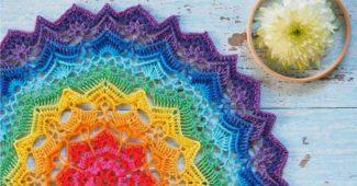 mandalas coloridas de croche