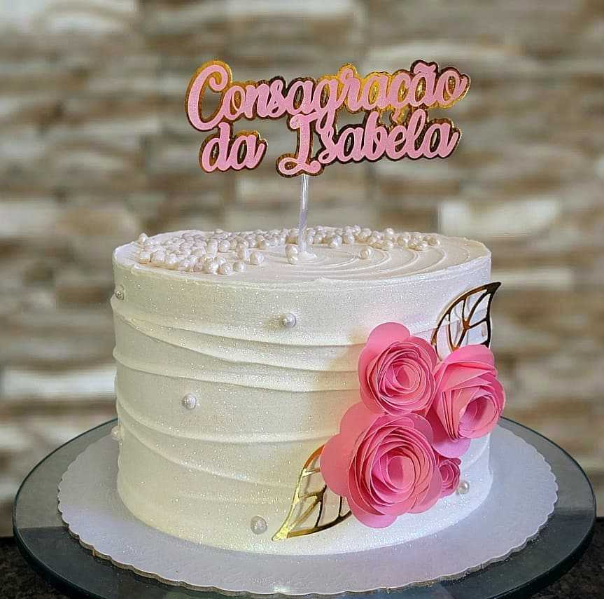 bolo decorado feminino gospel