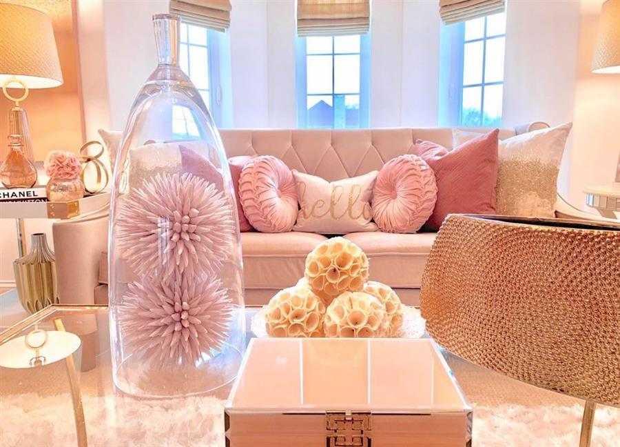 enfeites para sala rosa