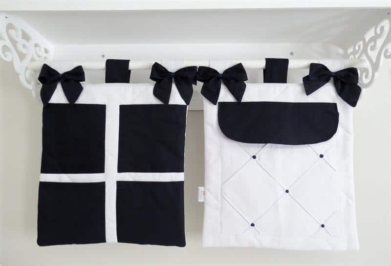 preto e branco com lacinhos