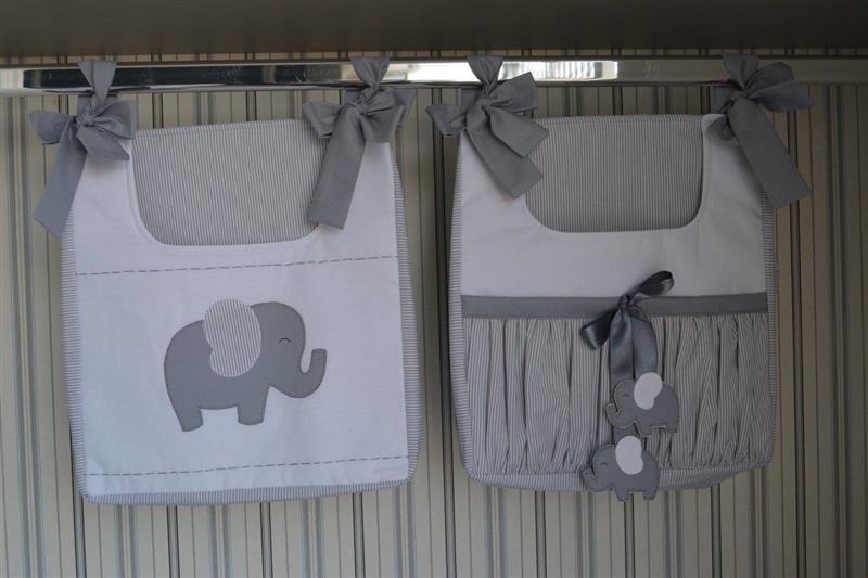 Porta fraldas e treco tema elefante
