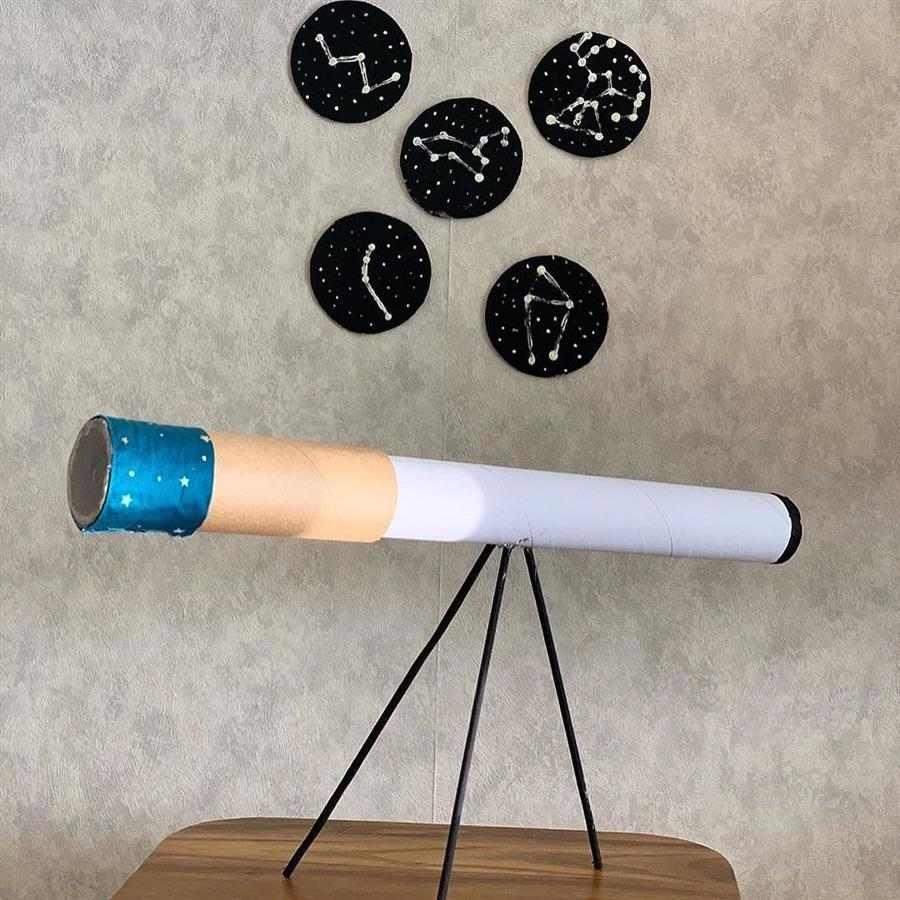 Telescópio de reciclagem de rolo de papel alumínio
