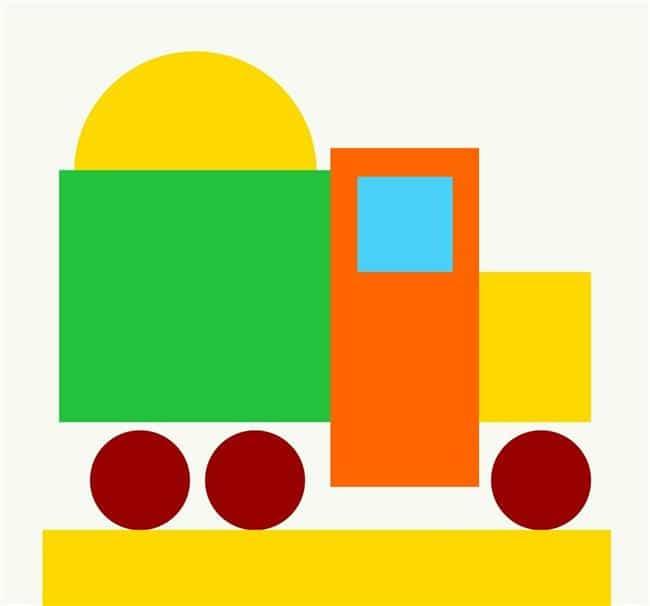 Desenho de carrinho colorido
