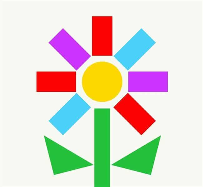 Desenho de flor colorida