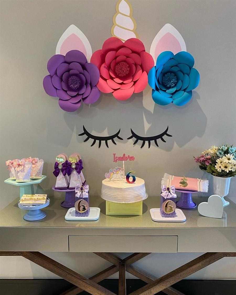 Como enfeitar festa de aniversário simples com papel