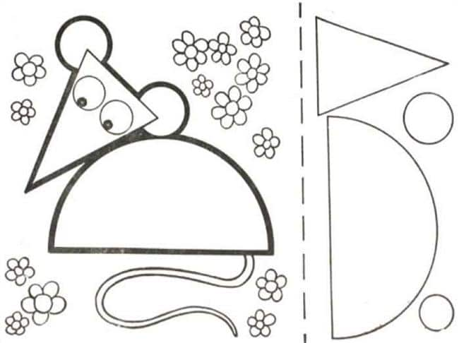 Desenho de rato para colorir
