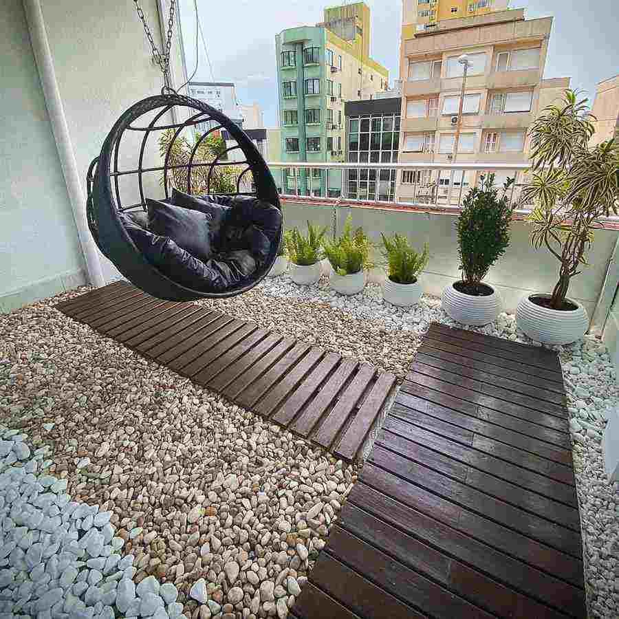 Jardim de varanda de apartamento