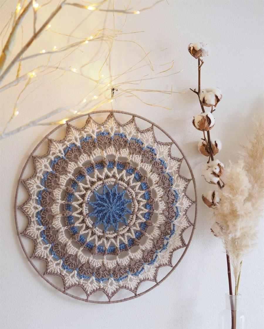 Mandala de crochê grande