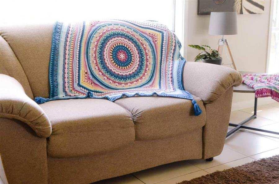 Manta de sofá de croche