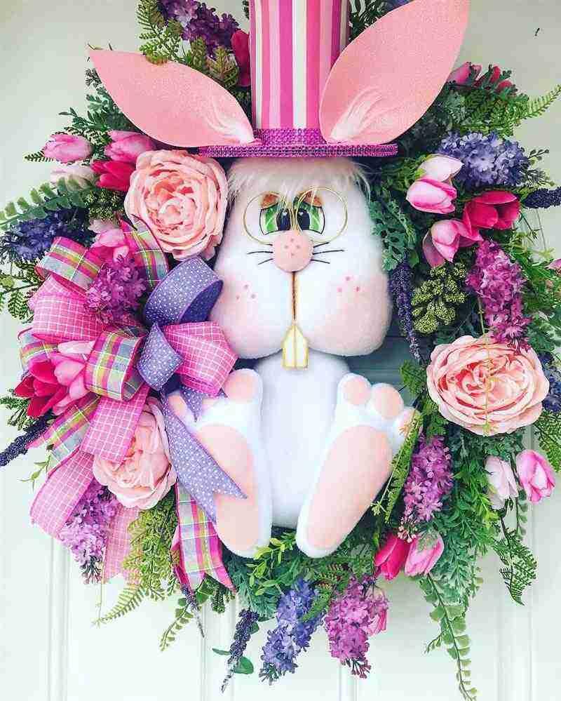rosa com coelho