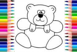 ursos para colorir e pintar