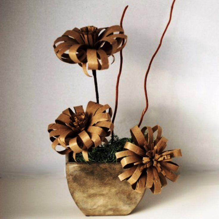 vaso de flores de papel