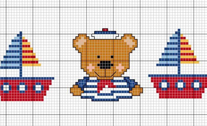 urso e barcos