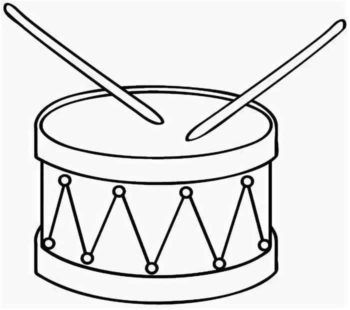 tambor para colorir