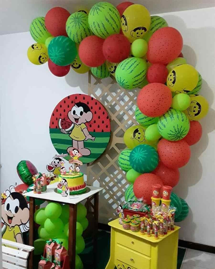 Painel treliça com arco de balões