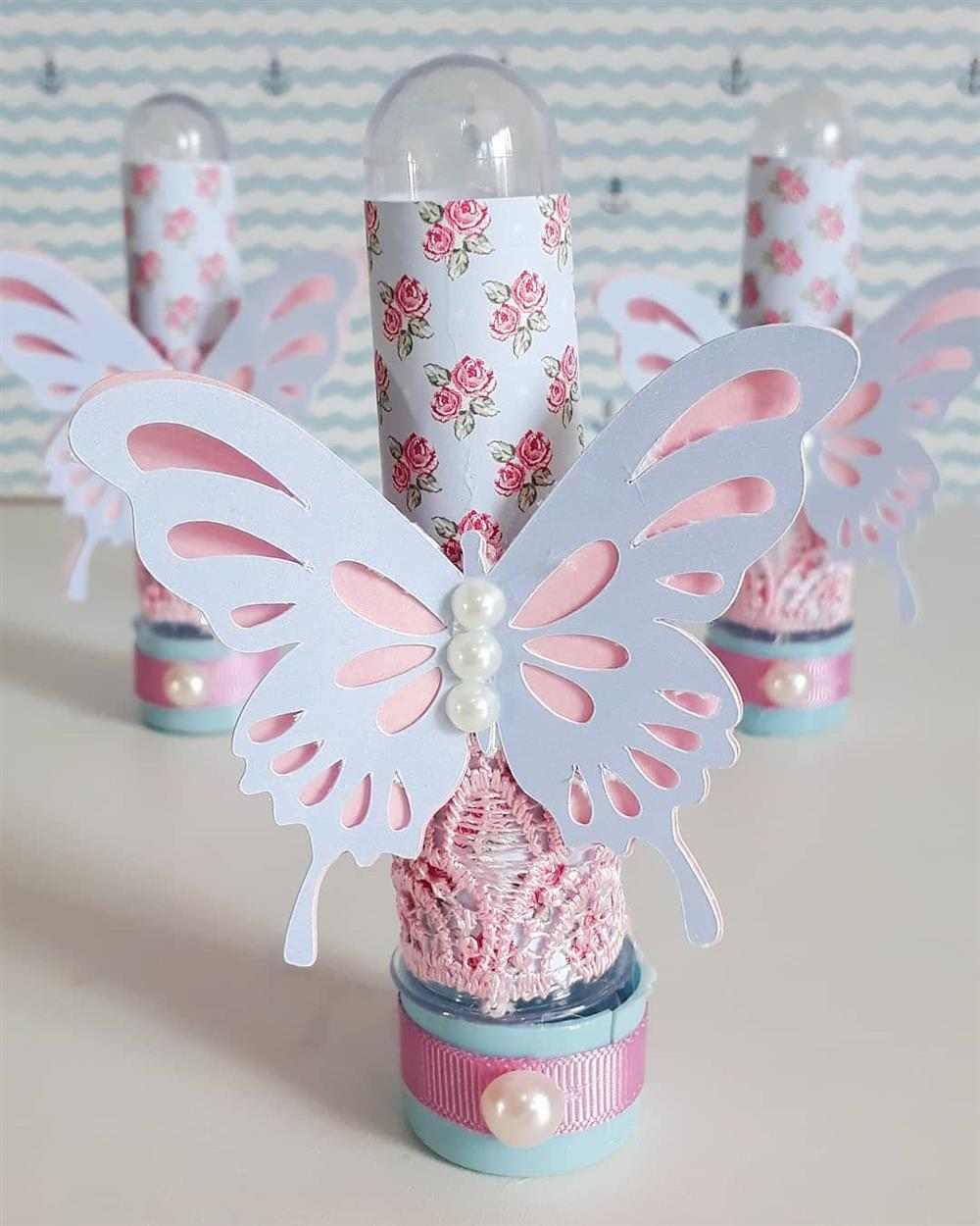 tubete decorado com borboleta