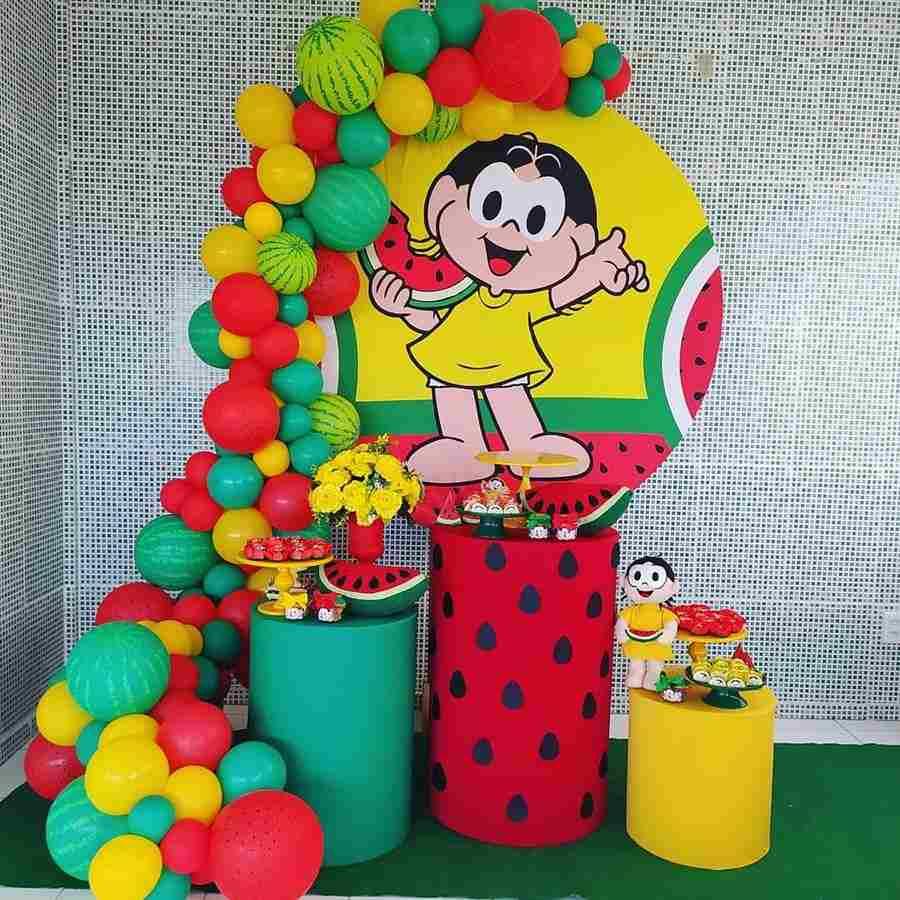 decoração com cilindros