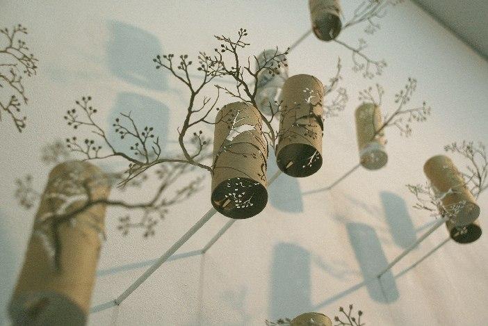 decoração criativa com rolo de papel