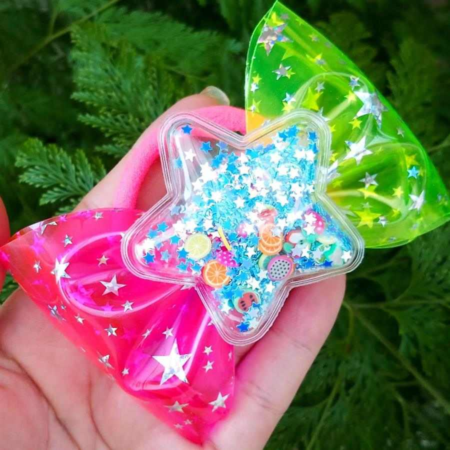 verde e rosa com estrela