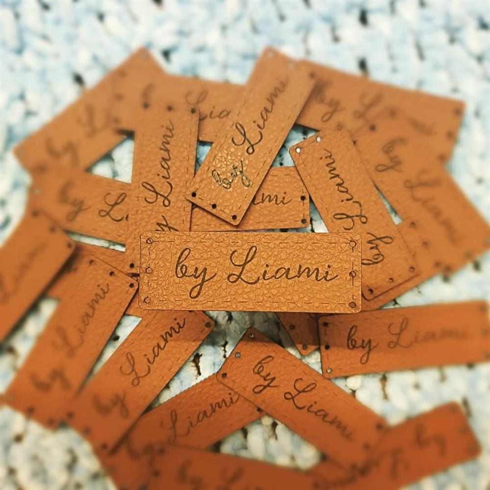 etiquetas para artesanato em couro